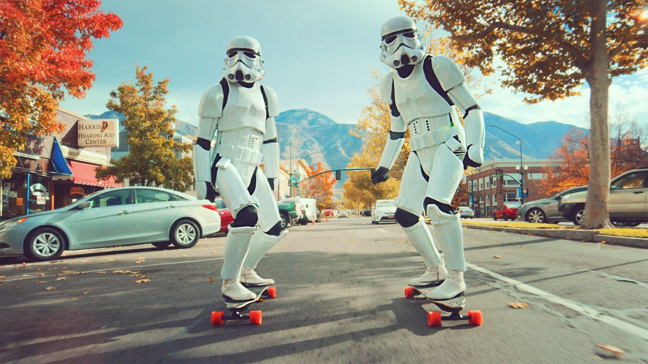 Stormtrooper Boosted Board Race